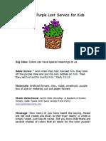 Color of Purple Lent Service