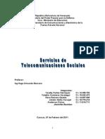 Trabajo de Servicios de Telecomunicaciones