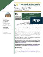 Tribal Safe Routes Webinar Feb 2011