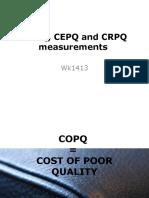 COPQ, CEPQ and CRPQ measurements to TYSG