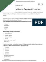 Installment Payment Program for Globe Postpaid