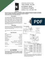 Gear hydraulic pumps