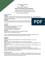 Fondamenti di Psicologia dell'educazione PROGRAMMA