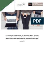 19.4.9 Rapport Ecrans Et Adloescents