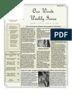 Newsletter Volume 3 Issue 6