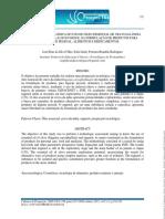 Artigo Científico - Prospecção tecnológica do uso do óleo essencial de cravo