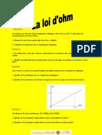 Série d'exercices - Physique  Loi d'Ohm - 2ème Sciences  Mr sassi lassaad