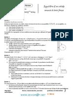 Série d'exercices 9 - Physique équilibre d'un solide soumis à trois forces - 2ème Sciences (2013-2014) Mr aryani ahmed.pdf