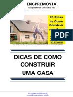 05 Dicas de Como Construir Uma Casa