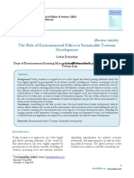 THE ROLE OF ENVIRONMENTAL ETHICS