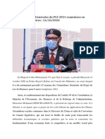 Les Orientations Générales du PLF 2021 examinées en Conseil des Ministres