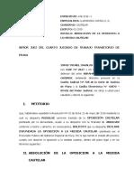 MODELO DE ABSOLUCION DE OPOSICION CAUTELAR DONDE SE CUESTIONA EL NO AGOTAMIENTO DE LA VIA ADMINISTRATIVA (1)