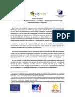 Carta regional ACLP y medios de comunicación