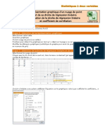 Protocole EXCEL - statistiques à 2 variables