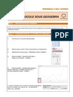 Protocole GEOGEBRA Courbe de Tendance