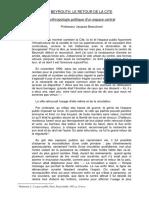 ANTHROPOLOGIE POLITIQUE D'UN ESPACE CENTRAL