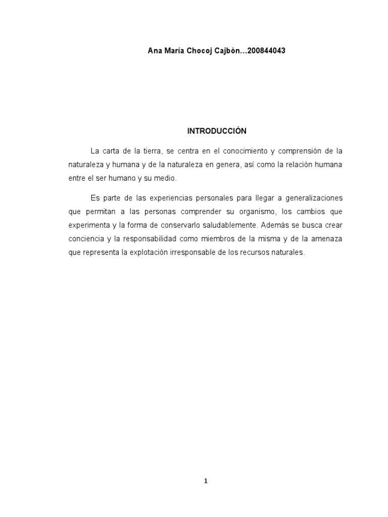 ANALISIS DE LA CARTA DE LA TIERRA