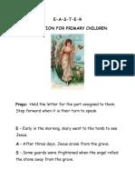 RECITATION FOR PRIMARY CHILDREN