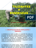 FERTILIZANTES Y ENMIENDAS