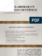 Cómo elaborar un artículo científico