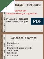 comunicação intercultural-COMUNICAÇÃO