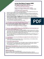 Visa Waiver Program (VWP) Quick Guide