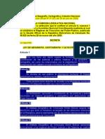 Extractos de la Ley de Geografía, Cartografía y Catastro Nacional.