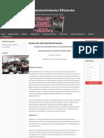 gerencia del mantenimiento – mantenimiento eficiente