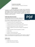 ORGANIZACIÓN DEL EQUIPO DE AUDITORES.