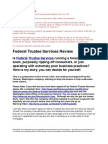 Federal Trustee Services Review of Alleged Foreclosure Rip Off Company