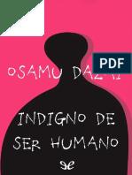 Indigno de ser humano por de Osamu Dazai