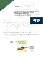 Guía Priorización 8 El Afiche OA 10