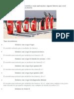 Os tipos de extintores de incendio e suas aplicações