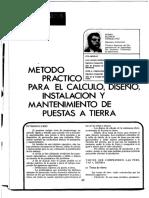 METODO DE CALCULO Y PROYECTO DE PUSTA A TIERRA 2
