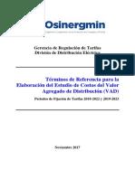 TDR Estudio de Costos VAD 2018