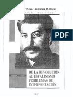 COHEN - De la Revolución al stalinismo