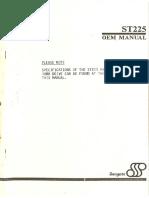Seagate ST225 - OEM Manual - Oct85
