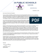Ansonia Nov. 11 School District Letter
