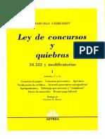 LEY DE CONCURSOS Y QUIEBRAS. Tomo 1. Marcelo Gebhardt.pdf