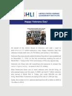USHLI - Happy Veterans Day!