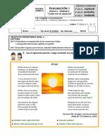 Evaluación Unidad N°2 Lenguaje 4° año Básico (Etapa II)