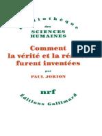 Paul Jorion - Comment la vérité et la réalité furent inventées  - libgen.lc.pdf