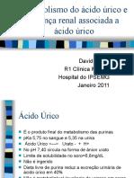 Metabolismo do ácido úrico e Doença renal associada a ácido úrico