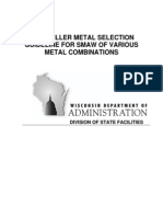 Arc Welding Filler Metal Selection Chart