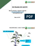 Riego en palma de Aceite - Agrodinco