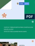 PRESENTACION COSTOS PARA CONSTRUCCIÓN 2019