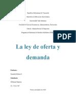 la ley de oferta y demanda, Est. Nellymar Ramirez