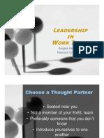 Leadership in Work Teams [Read-Only]