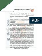 Resolucion Directoral que aprueba el Reglamento de PAD