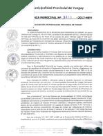 ORDENANZA MUNICIPAL N°-0018-2017-MPY-AMNISTIA TRIBUTARIA